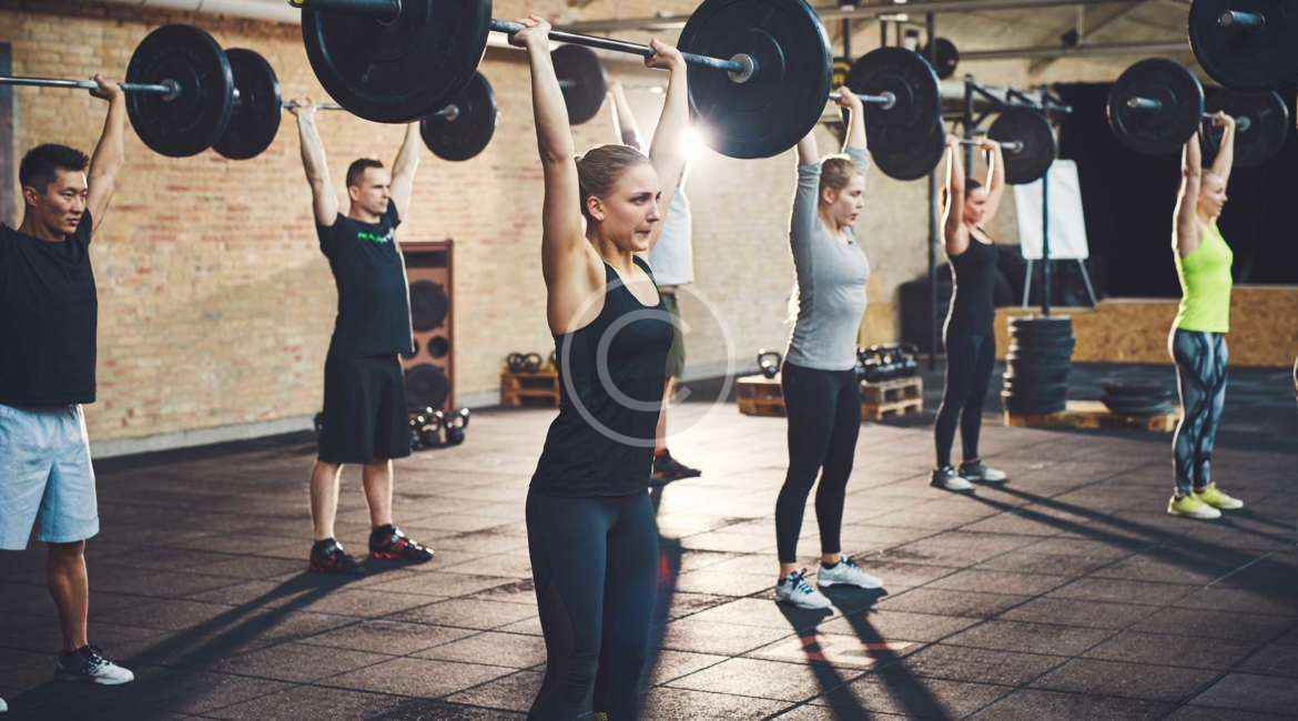 Group training in the best weighlift facility